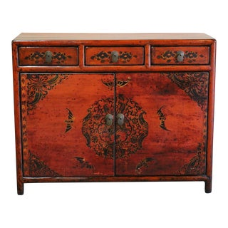 Late 20th Century Chinese Painted Sideboard For Sale