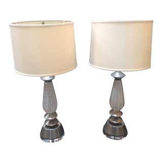 1960s Vintage Murano Lamps - A Pair For Sale