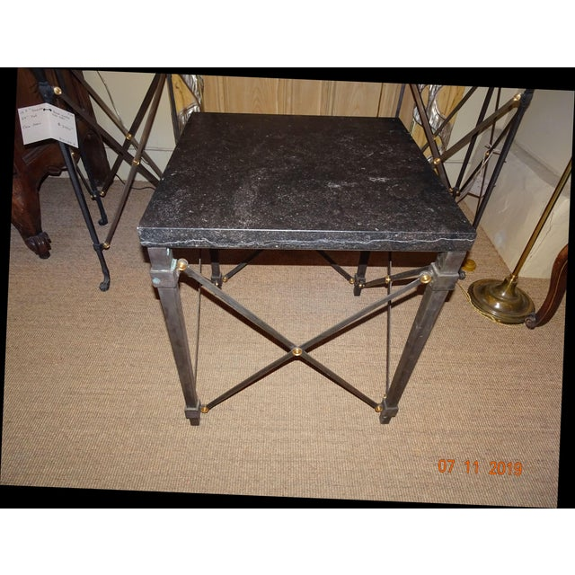 Contemporary Marble Side Table For Sale - Image 13 of 13