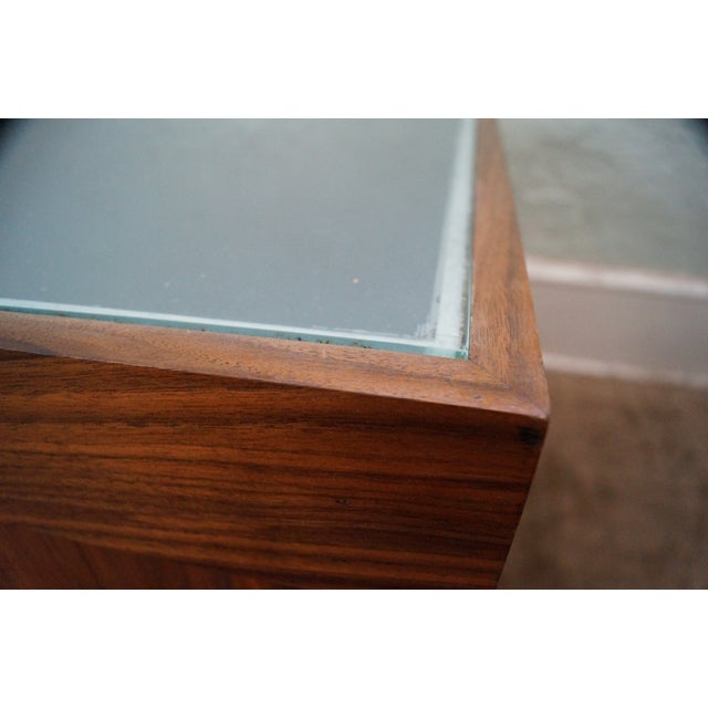Solid Walnut Cube End Tables - A Pair For Sale - Image 5 of 10