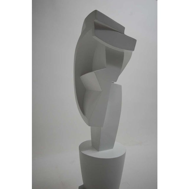 Large and impressive cubist sculpture by Peter Ambrose. This piece (untitled) was created by Mr. Ambrose in 2000...