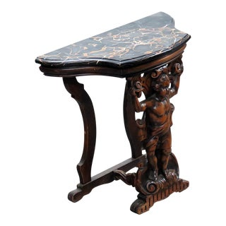 Renaissance Style Marble Top Hall Table