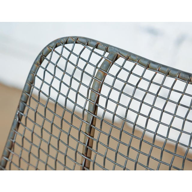 Gray Set of 4 Russell Woodard Wire Chairs For Sale - Image 8 of 9
