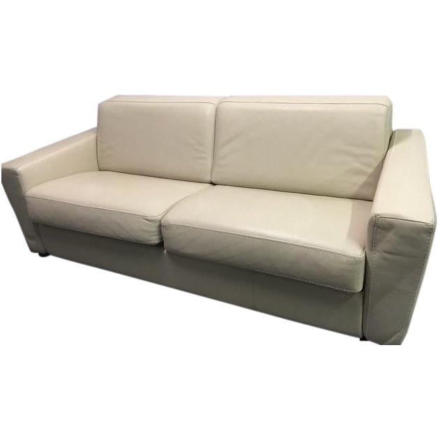 Capri Italian Leather Sleeper Sofa - Image 1 of 7