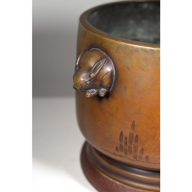 Late 19th-C. Japanese Bronze Hibachi - Image 3 of 3