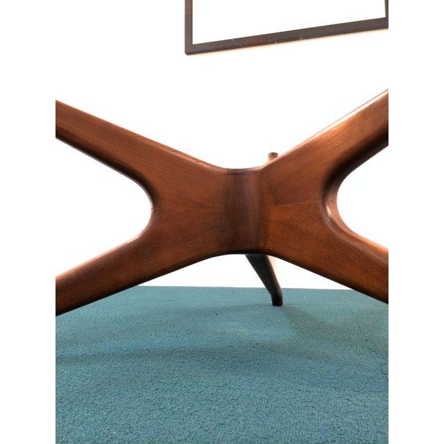 Vladimir Kagan Biomorphic Walnut Coffee Table - Image 4 of 8