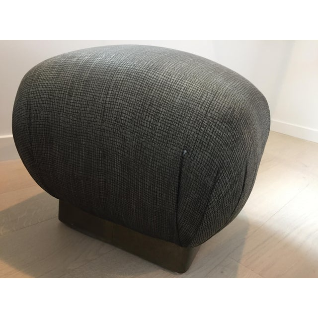 Pouf-Style Brown Ottomans - A Pair - Image 4 of 7
