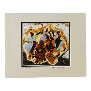 """Contemporary Tribal """"The Orchestra"""" Signed & Matted Print For Sale"""