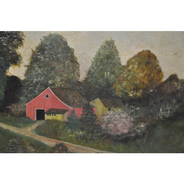 19th Century Barn & Farm House Country Landscape For Sale - Image 5 of 6