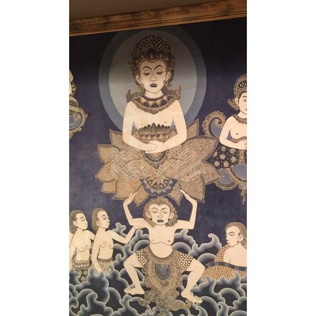 Framed Cultural Theme Indonesian Batik Artwork - Image 4 of 11