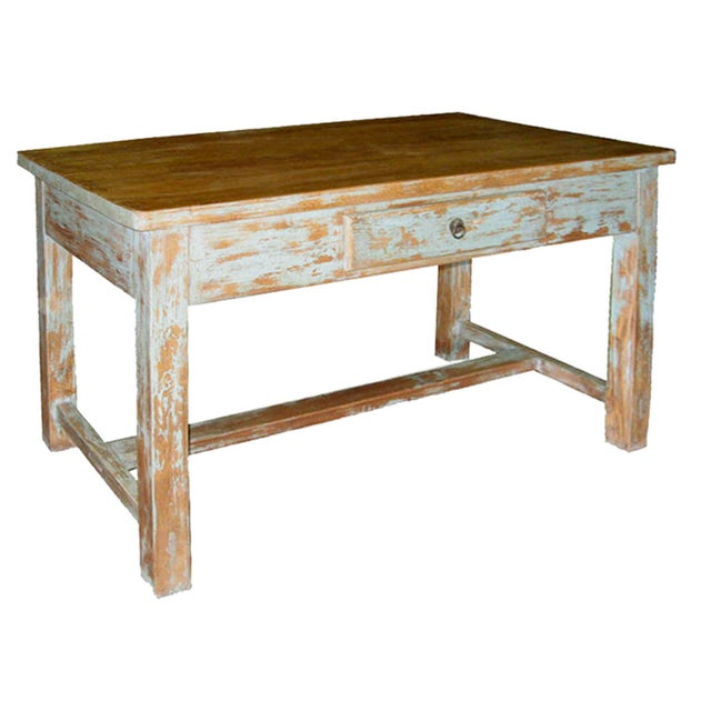 Distressed Blue Table - Image 2 of 7