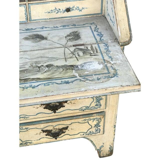 Baroque Mid 18th Century Antique Italian Painted Secretary Desk For Sale - Image 3 of 7