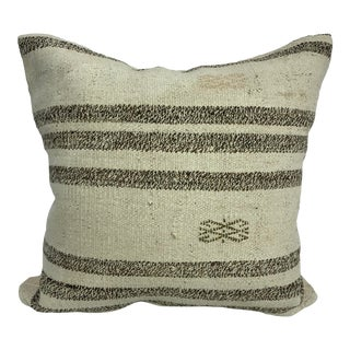 Turkish Organic Traditional Handwoven Kilim Pillow For Sale