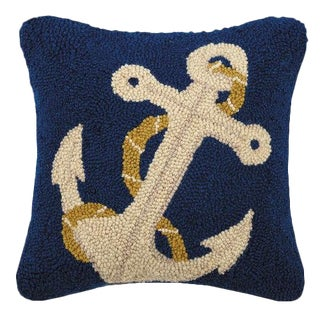 Anchor Nautical Hook Pillow For Sale