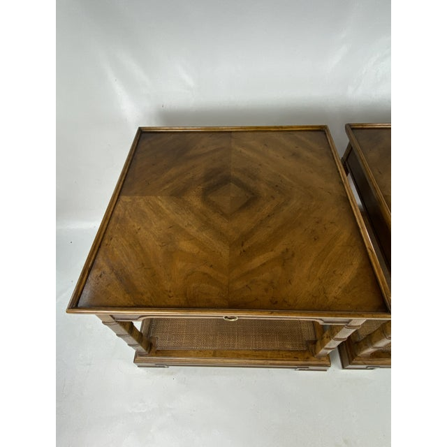 1960s 1960s Drexel Heritage Asian Style Side Tables - a Pair For Sale - Image 5 of 13
