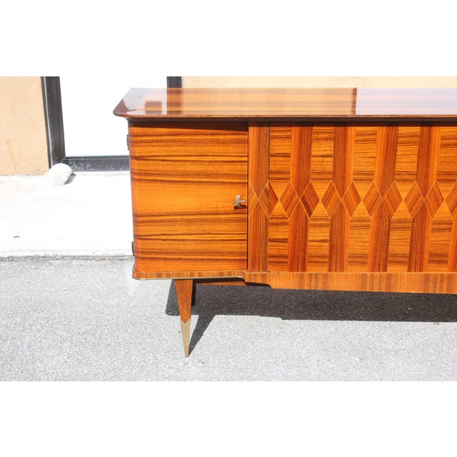 1940s Art Deco Exotic Macassar Ebony Sideboard / Buffet For Sale - Image 11 of 13