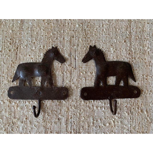 1980s 1980s Metal Horse Hooks - a Pair For Sale - Image 5 of 5