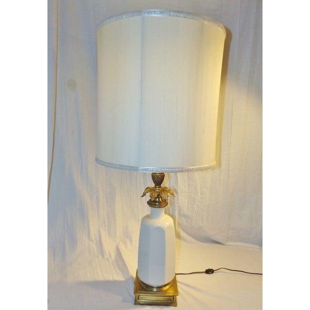 Stiffel Brass & Lenox Porcelain Table Lamp - Image 2 of 9