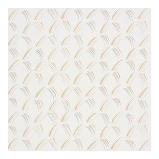 Sample - Schumacher Trevi Diamond Wallpaper in Stone For Sale
