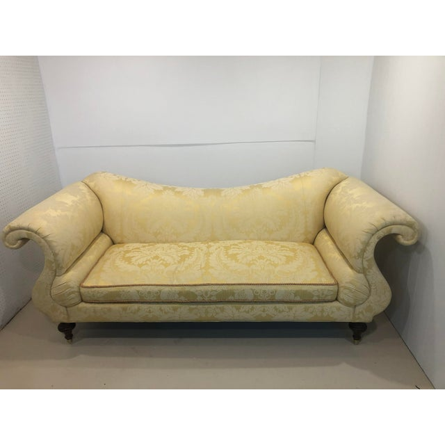 Baker Furniture Classic Sofa. Fabric has no rips or tears but a few spots as seen in photos.