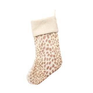 Pearl Velvet Custom Leopard Stocking For Sale