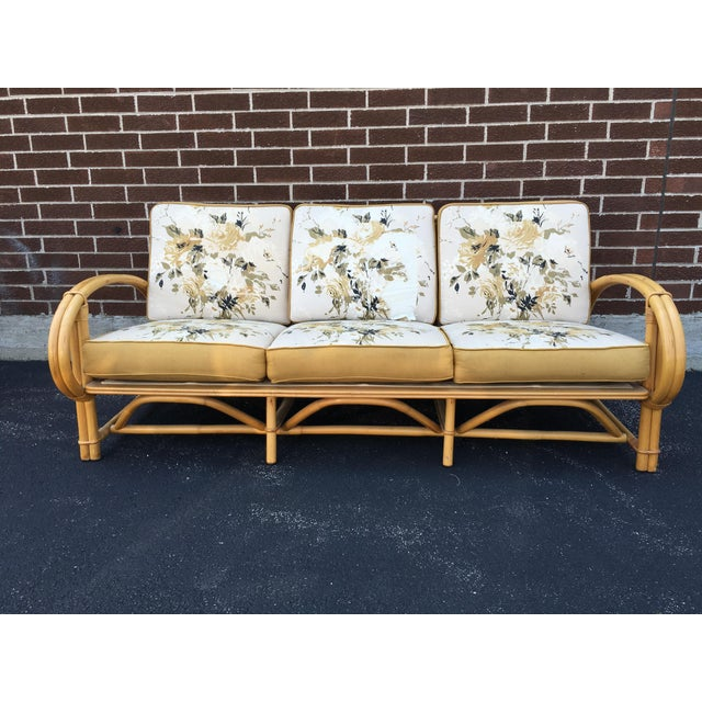 Vintage Ficks Reed Co. Vintage Rattan Sofa - Image 2 of 11