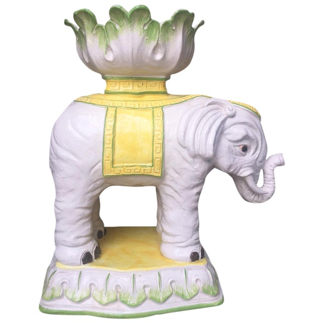 Vintage Italian Elephant Stand with Bowl Top - Image 1 of 5