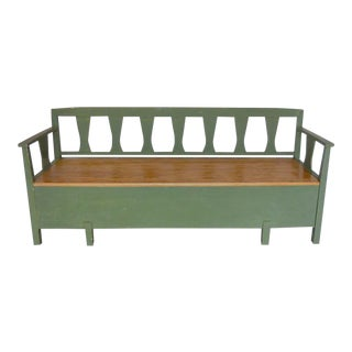 19th Century Swedish Painted Bench/Daybed