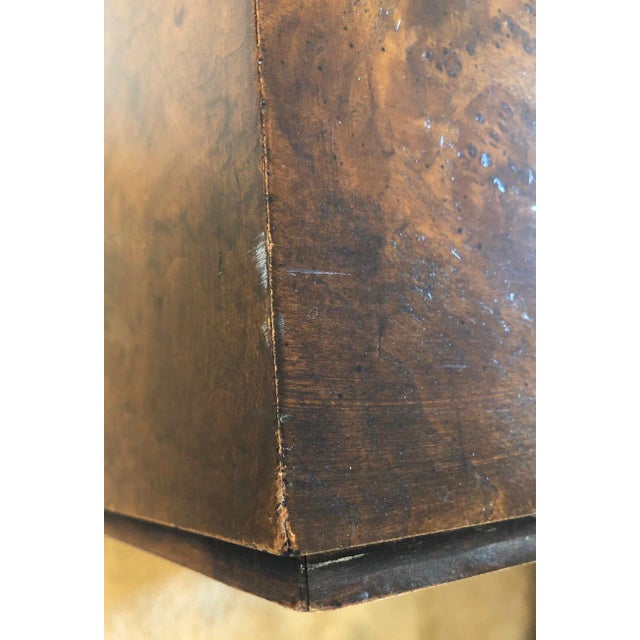 1970s Milo Baughman Burl Wood Large Cube End Table For Sale In Chicago - Image 6 of 13