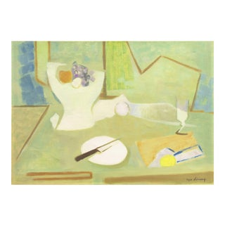 Roger Derieux, 'Still Life in Blue and Jade', Post-Impressionist Interior For Sale