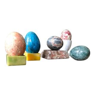 Semi-Precious Stone Memphis Egg Set of 5