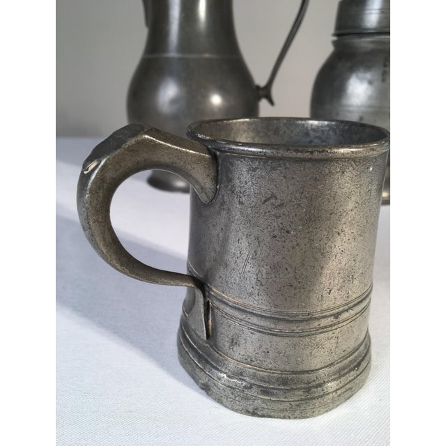 Collection of 4 Antique Pewter Articles For Sale - Image 4 of 10
