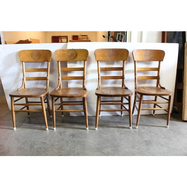 Rare 1900s Jung Brewery tavern chairs. In 1896, Philipp Jung purchased the Obermann Brewing Company at fifth and cherry...