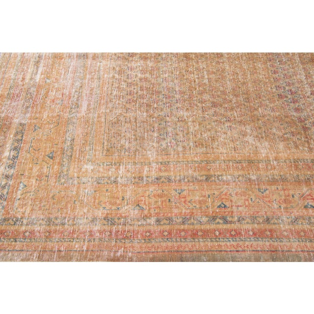 """Textile 1910s Traditional Apadana-Antique Persian Distressed Rug - 6'8"""" X 10'5"""" For Sale - Image 7 of 10"""