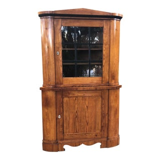 19th Century Antique Biedermeier Corner Cabinet For Sale