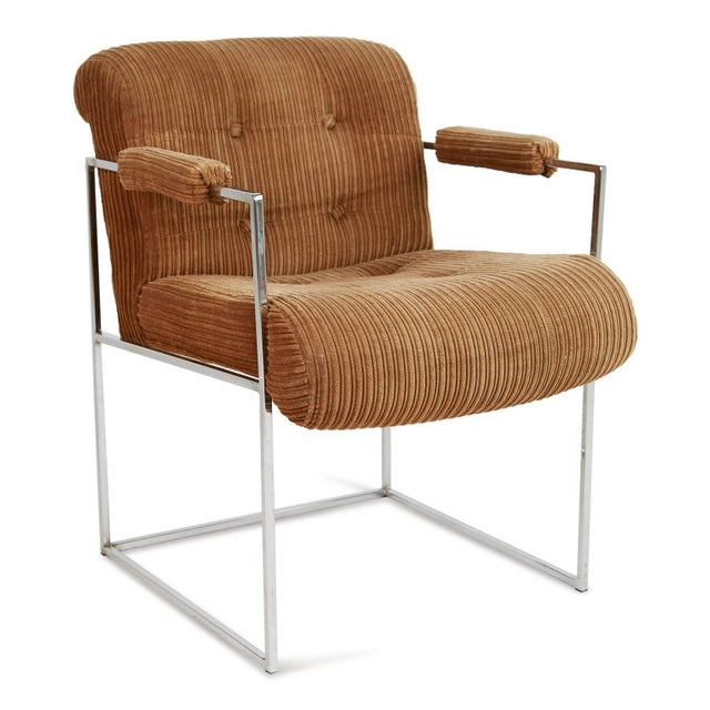 Contemporary 1970s Milo Baughman for Thayer Coggin Dining Armchairs - a Pair For Sale - Image 3 of 9