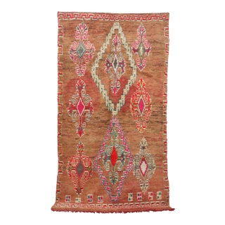 1970s Boujad Vintage Moroccan Rug For Sale