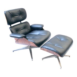 1960s Selig Eames-Style Lounge Chair and Ottoman For Sale