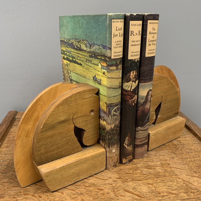 Vintage Hard Carved Horse Bookends - a Pair For Sale - Image 4 of 5