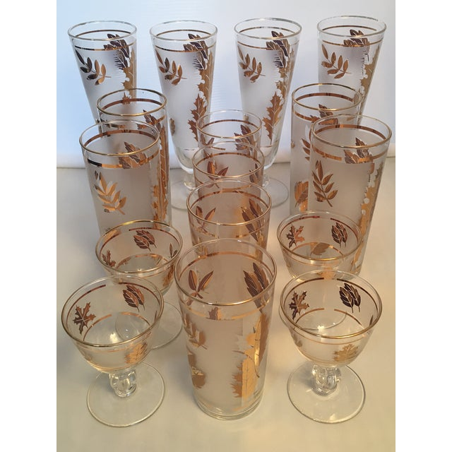 Set your fall table or stock the bar with these lovely mid century 1960's era glasses in good vintage condition. This set...