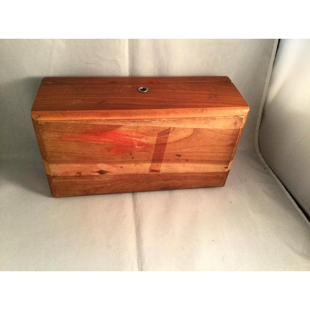 Lane Cedar Handmade Wooden Box, 1980s For Sale - Image 4 of 9