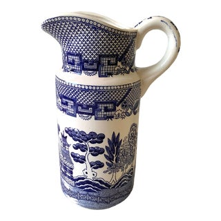 Vintage Blue Willow China Pitcher For Sale