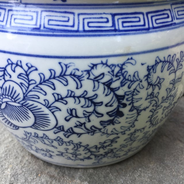 Blue Blue White Chinese Foo Dog Covered Ginger Jar For Sale - Image 8 of 8