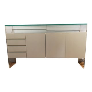 1970s Milo Baughman for Thayer Coggin Lucite and Lacquered Sideboard For Sale