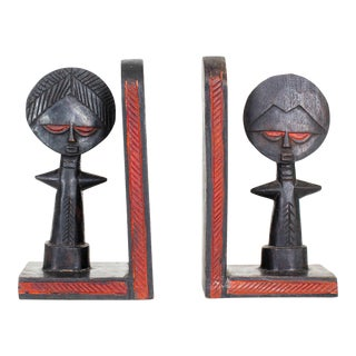 Hand Carved African Bookends - a Pair For Sale