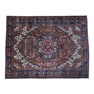 1930s Vintage Hand-Knotted Persian Heriz Rug - 10′4″ × 13′3″ For Sale