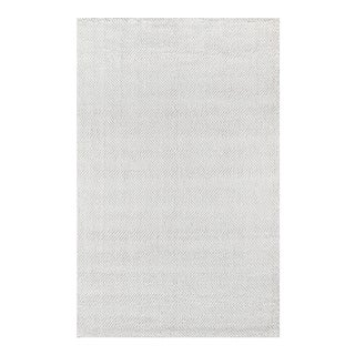 "Erin Gates by Momeni Ledgebrook Washington Ivory Hand Woven Area Rug - 3'9"" X 5'9"" For Sale"