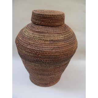 Woven Ethnic Lidded Basket Preview