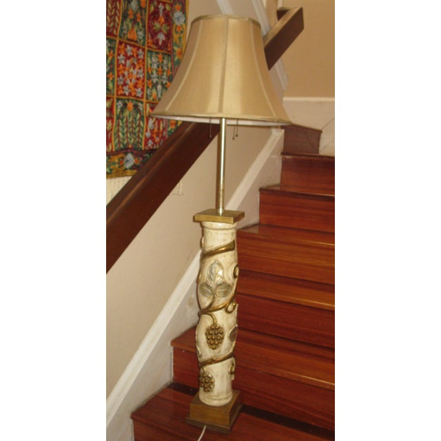 James Mont James Mont Mid-Century Modern Gilt Gold & Silver Lamp For Sale - Image 4 of 7