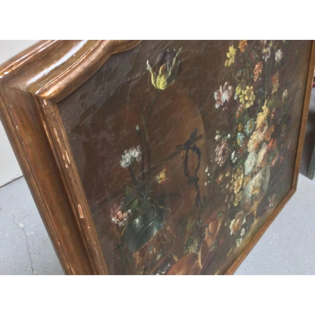 Italian Decorative Italian Still Life Floral Painting B For Sale - Image 3 of 11
